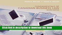 Read Fundamentals of Canadian Business Law, Second Edition Ebook Free