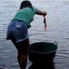 Uma forma de pescar muito original