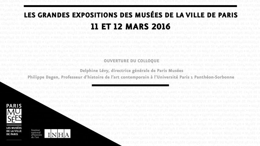 Colloque Les grandes expositions des musées de la Ville de Paris - Ouverture du colloque