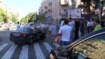 Scene of car blast which killed Ukrainian investigative journalist