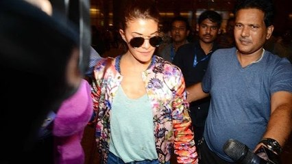 Jacqueline Fernandez Spotted At Mumbai Airport | Dishoom Promotion