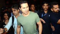 Varun Dhawan Spotted At Mumbai Airport | Dishoom Promotion