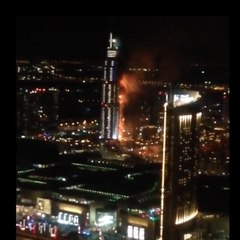 ¡Un incendio increíble en Dubai!