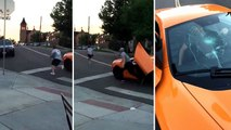 Un skateur casse le pare-brise d'une McLaren