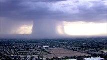 Un orage frappe l'arizona : trombes d'eau impressionnantes