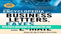 Read Books The Encyclopedia of Business Letters, Faxes, and Emails: Features Hundreds of Model