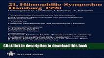 Download 21. Hämophilie-Symposion: Hamburg 1990  EBook