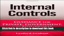 Read Books Internal Controls: Guidance for Private, Government, and Nonprofit Entities E-Book
