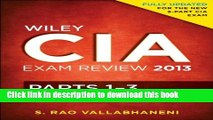 Download Books Wiley CIA Exam Review 2013, Complete Set (Parts 1 - 3) Ebook PDF