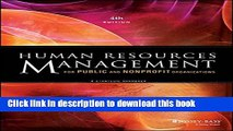 Read Books Human Resources Management for Public and Nonprofit Organizations: A Strategic Approach