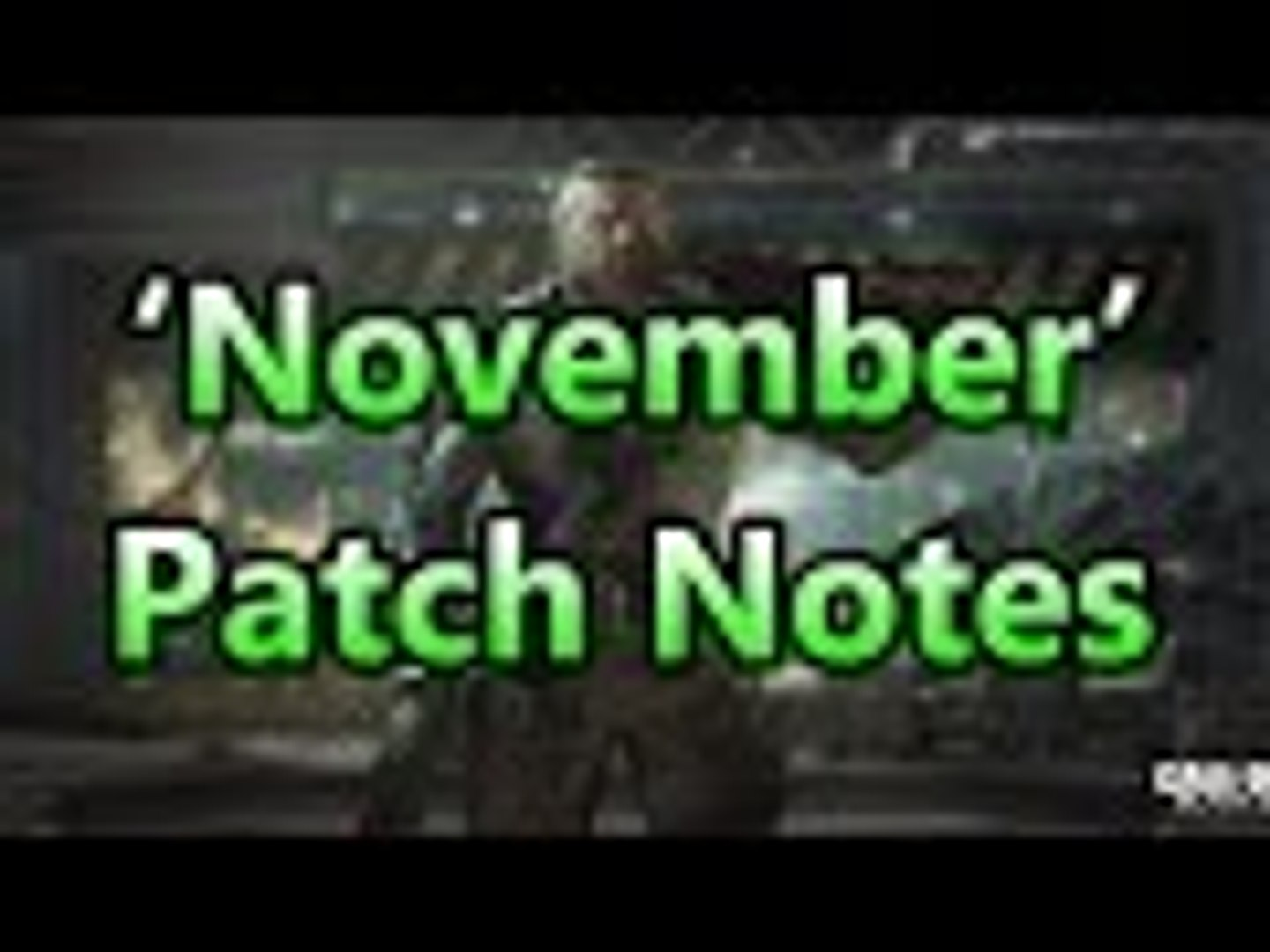 'November' - Black Ops 3 Patch Notes