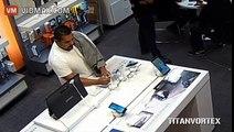 THIEF CAUGHT ON CAMERA STEALING SAMSUNG GALAXY S6 SMARTPHONE