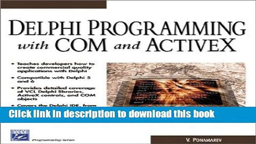 Read Delphi Programming with COM and ActiveX (Programming Series) (Charles  River Media