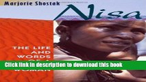 Read Books Nisa: The Life and Words of a !Kung Woman E-Book Free