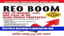 Read Books REO Boom: How to Manage, List, and Cash in on Bank-Owned Properties: An Insiders  Guide