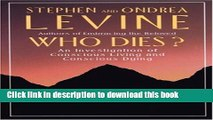 Read|Download} Who Dies?: An Investigation of Conscious Living and Conscious Dying Ebook Online