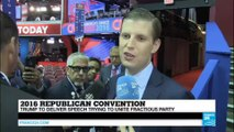 "Republican Convention - Eric Trump: ""He has united the party, people are chanting Trump, Trump, Trump"""