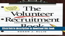 Read Books The Volunteer Recruitment (and Membership Development) Book ebook textbooks