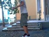 skate amatoriale ollie scalini
