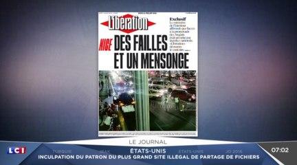 Libération accuse le gouvernement. Zap actu du 21/07/2016 par lezapping