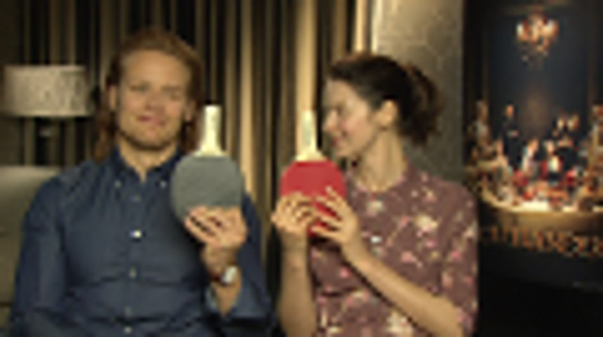 Marie Claire - Onscreen Mr and Mrs with Outlander's Sam Heughan and Caitriona Balfe