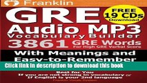 Download Franklin GRE Audio MP3 Vocabulary Builder: Download