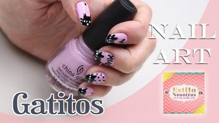 Gatitos, Nail Art by Luli Gugli | ESTILO NOSOTRAS