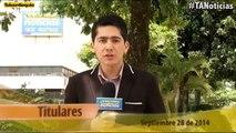 Titulares Teleantioquia Noticias- domingo 28 de septiembre 7:30 p.m.