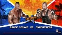 WWE 2K Rivalries - Undertaker vs. Brock Lesnar | WWE SummerSlam 2015 | WWE 2K15 Gameplay