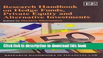 Download Research Handbook on Hedge Funds, Private Equity and Alternative Investments  Ebook Free