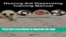 PDF Hearing Aid Dispensing Training Manual [Download] Online
