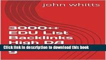 Read 3000++ EDU List Backlinks High DA PA PR 5-9 PDF Online