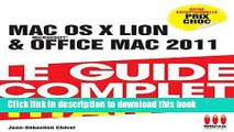 Download guide complet Mac Os X Lion   Office Mac 2011  PDF Free
