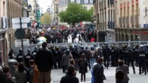 Rennes - Manifestation Loi Travail 28 avril 2016 - Charge CRS
