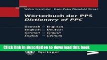 [PDF] Wörterbuch der PPS Dictionary of PPC: Deutsch - Englisch / Englisch - Deutsch | German -