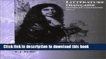 [Download] Litterature Francaise: Textes Et Contextes (Invit a la Litterature France) [Read] Online