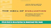 [PDF] The ABCs of Evaluation: Timeless Techniques for Program and Project Managers Read Full Ebook