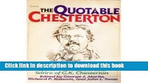 [Download] The Quotable Chesterton: A Topical Compilation of the Wit, Wisdom and Satire of G. K.