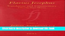 [PDF] Flavius Josephus: Translation and Commentary, Volume 3: Judean Antiquities, Books 1-4