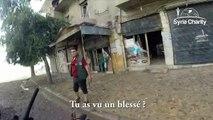 La vie d'un brancardier pendant un bombardement en Syrie