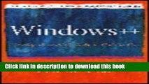 Read Windows++: Writing Reusable Windows Code in C++ Ebook Free