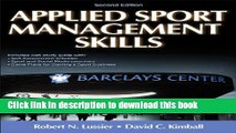 Download Applied Sport Management Skills-2nd Edition With Web Study Guide Ebook Free