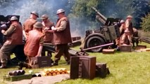 25 Pounder Field Gun firing display for Armed Forces Day at Leyland park, Hindley, Wigan