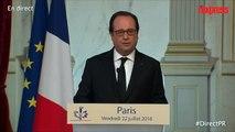 """Lutte face à Daech: Hollande annonce le déploiement de """"moyens d'artillerie"""""""
