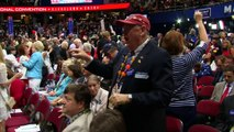 Dancing delegates celebrate Donald Trump's nomination