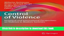 [PDF] Control of Violence: Historical and International Perspectives on Violence in Modern