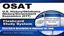 Read Book Osat U.S. History/Oklahoma History/Government/Economics (017) Flashcard Study System: