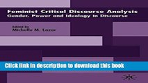 [PDF] Feminist Critical Discourse Analysis: Gender, Power and Ideology in Discourse [Download]