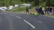 Chute de / Crash of Pierre Rolland - Étape 19 / Stage 19  - Tour de France 2016