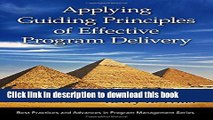 [PDF] Applying Guiding Principles of Effective Program Delivery (Best Practices and Advances in
